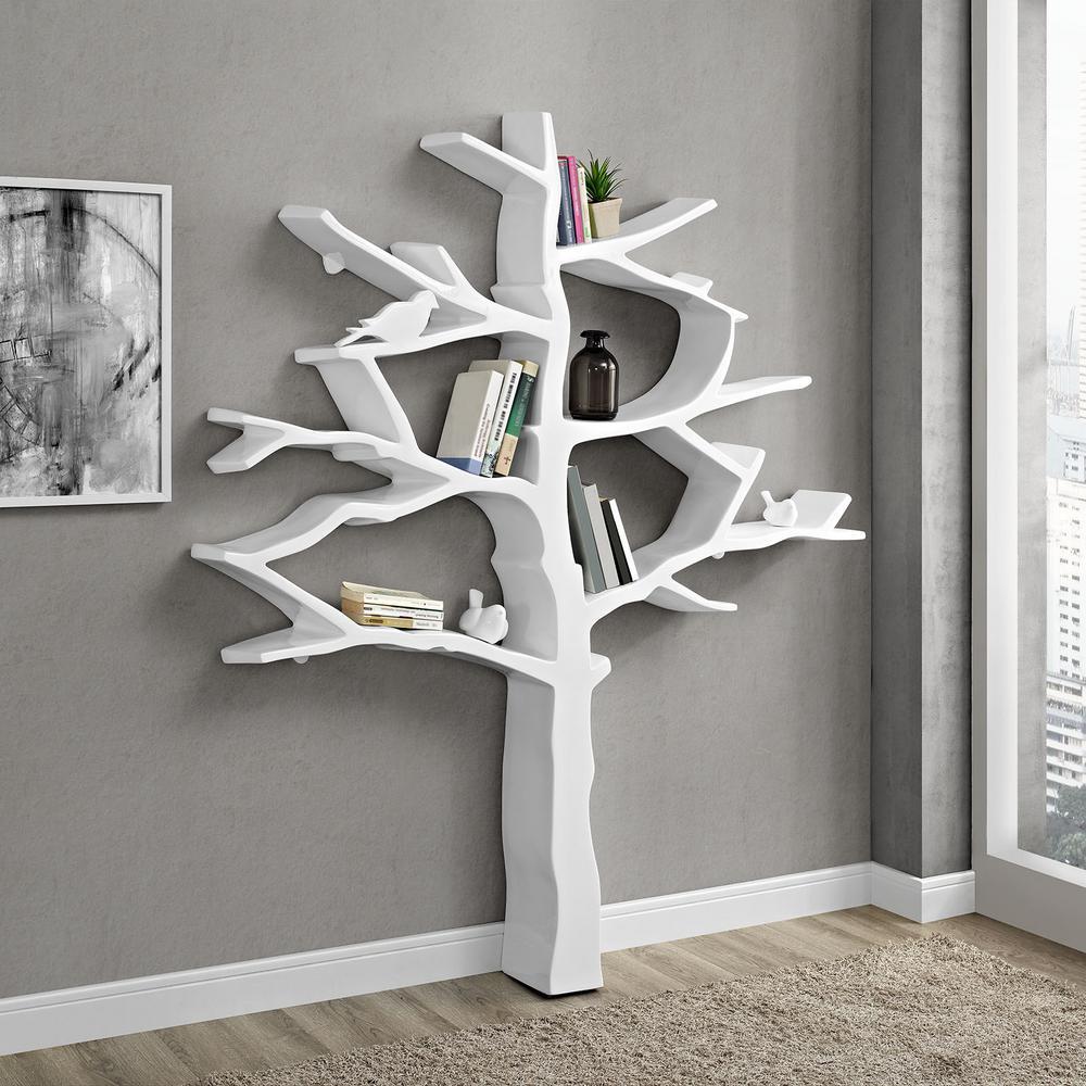 Knowledge White Bookcase