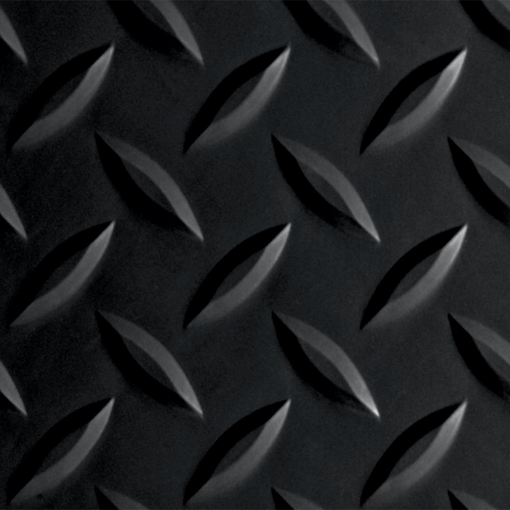 Diamond Tread 10 ft. x 24 ft. Midnight Black Commercial Grade