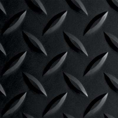Diamond Tread 10 ft. x 24 ft. Midnight Black Commercial Grade Vinyl Garage Flooring Cover and Protector