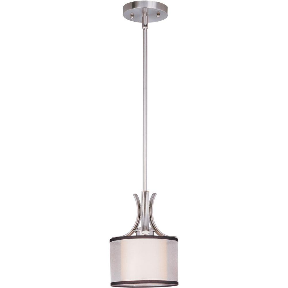 Orion 1-Light Satin Nickel Mini Pendant