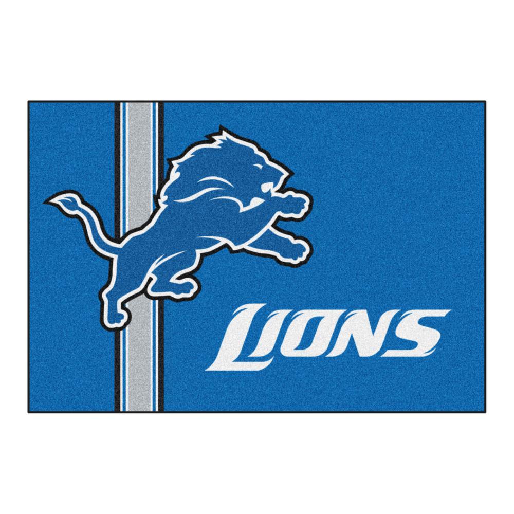 NFL - Detroit Lions Blue Uniform Inspired 2 ft. x 3 ft. Area Rug