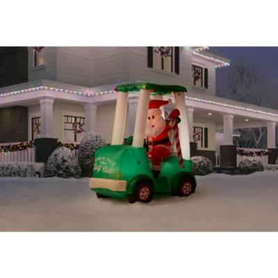 6 ft. Inflatable Santa with Golf Cart Scene
