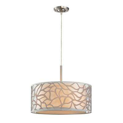 Autumn Breeze 3-Light Brushed Nickel Pendant