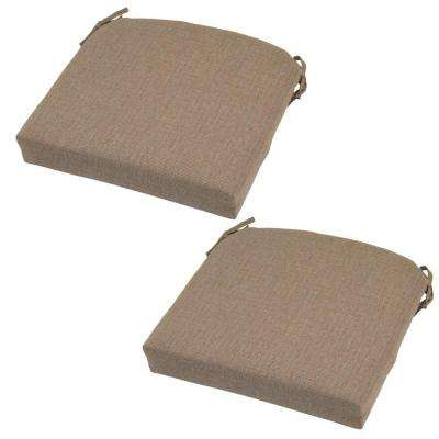 21 x 20.5 Outdoor Chair Cushion in Standard Saddle (2-Pack)