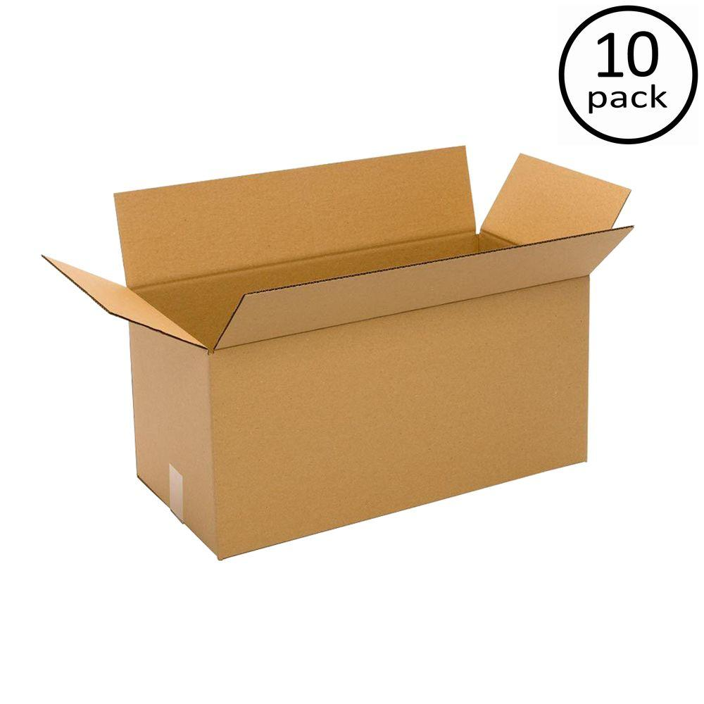 Plain Brown Box 24 in. x 16 in. x 16 in. 10 Moving Box Bundle