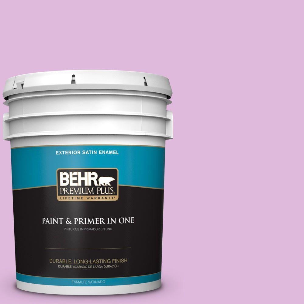 BEHR Premium Plus 5-gal. #670A-3 Posies Satin Enamel Exterior Paint