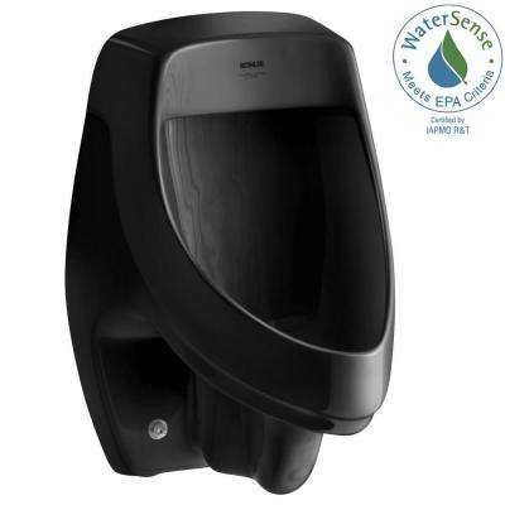 Dexter 1.0 GPF Urinal with Rear Spud in Black Black