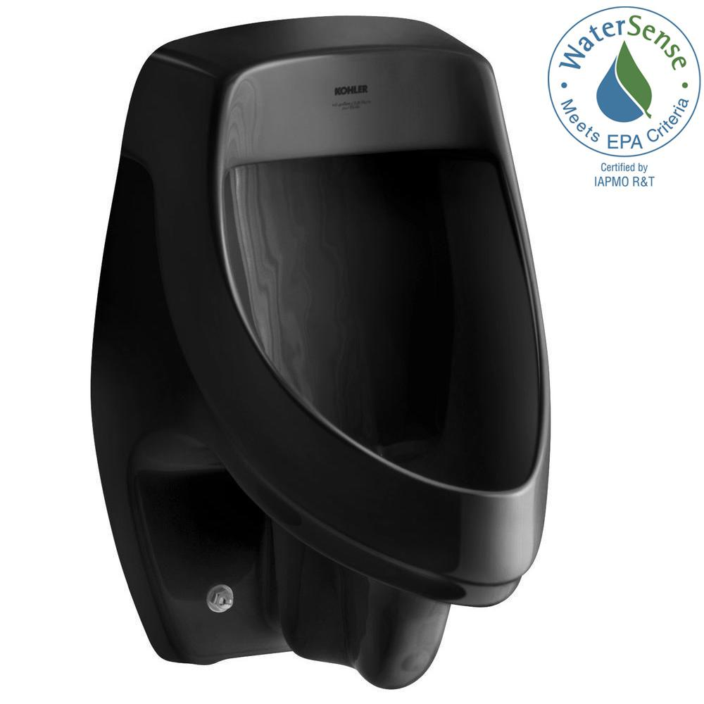 KOHLER Dexter 0.5 or 1.0 GPF Urinal with Rear Spud in Black Black