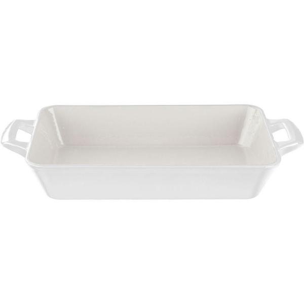 La Cuisine Medium Deep Cast Iron Roasting Pan with Enamel Finish