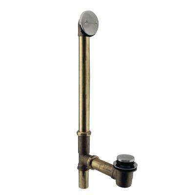 10 in. 17 Gauge Brass Tip-Toe Drain