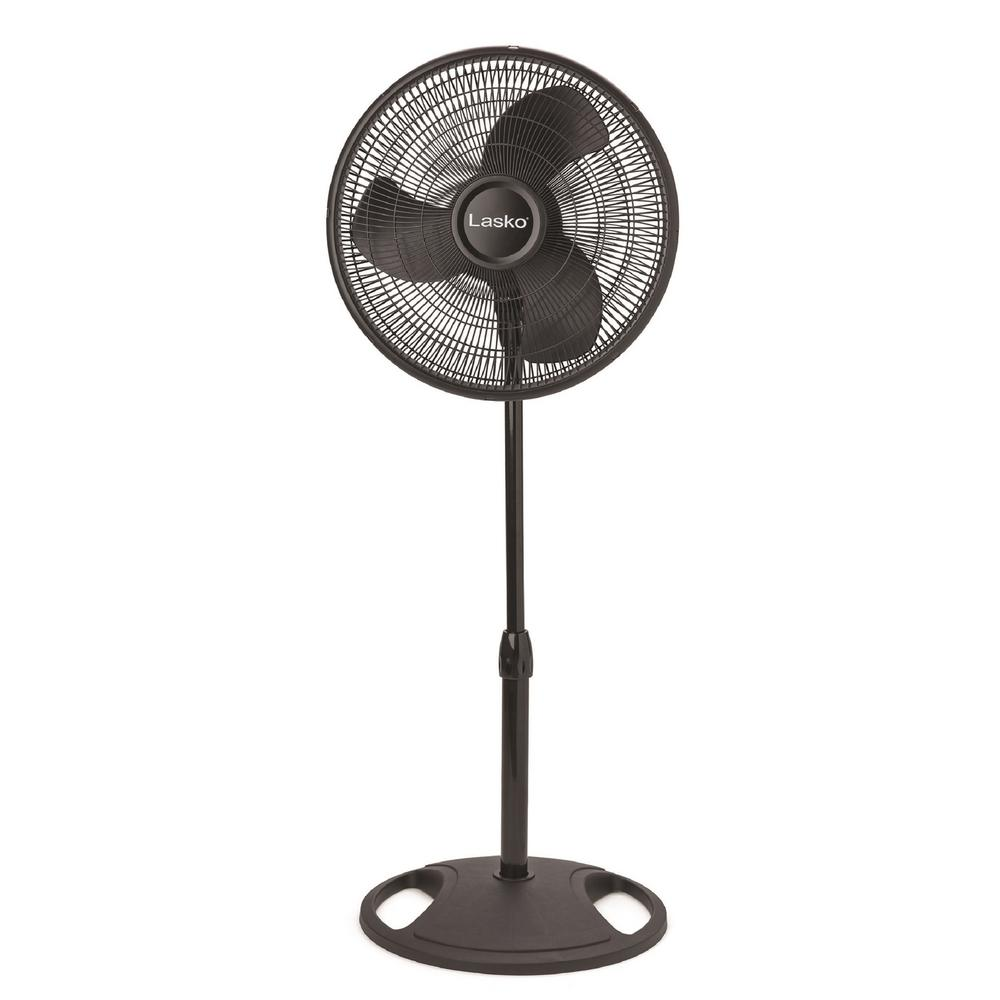 Lasko 16 in. Oscillating Pedestal Stand Fan in Black