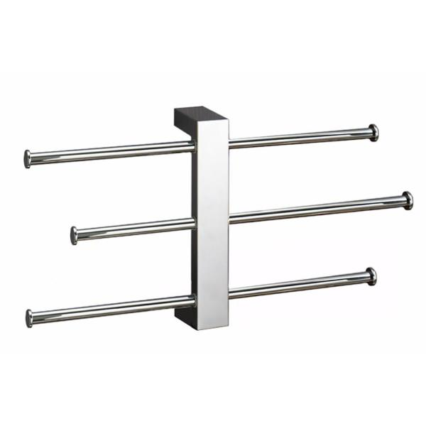 Nameeks Bridge Wall Mounted Towel Rack In Chrome Gedy 7630 13 The Home Depot