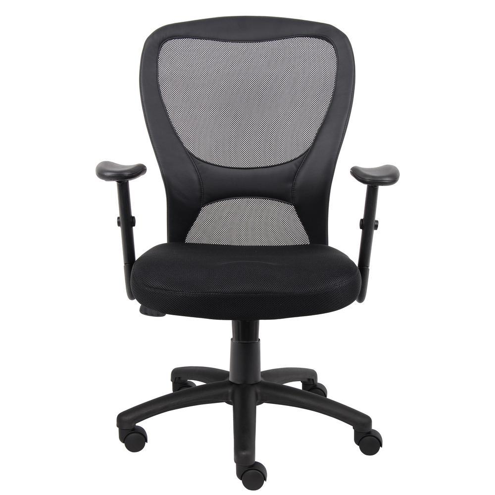 Boss Black Mesh Task Chair B6508