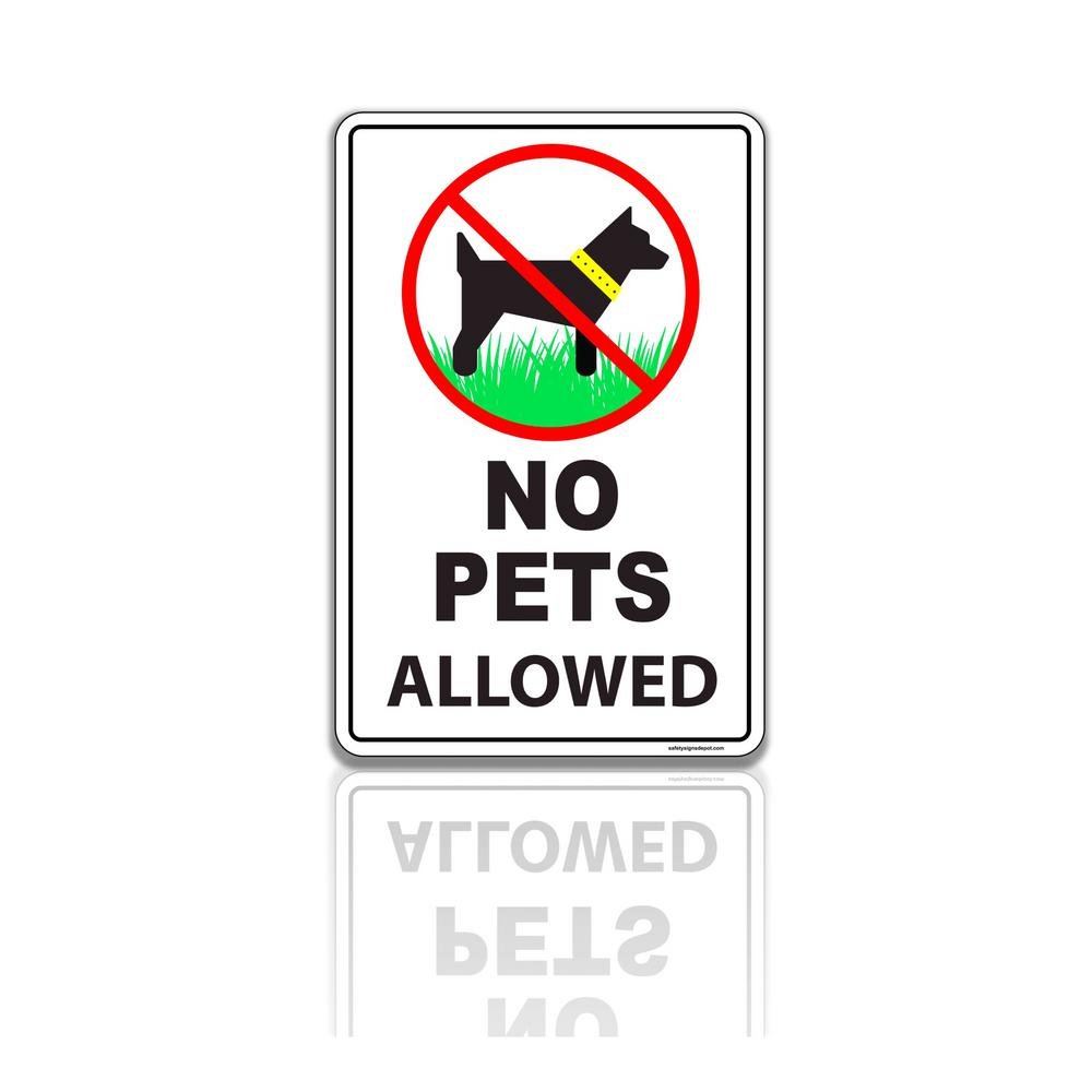 12 in. x 8 in. Plastic No Pets Dogs Allowed Sign