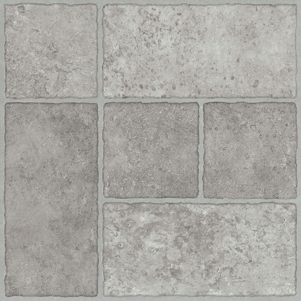 Trafficmaster Bodden Bay 12 In X Grey L And Stick Vinyl Tile