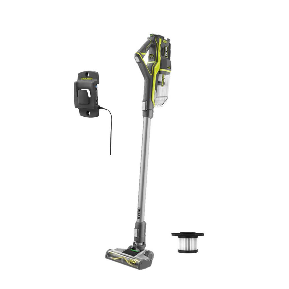 RYOBI 18-Volt ONE+ Cordless Stick Vacuum Cleaner (Tool Only) with Extra Filter