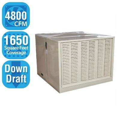 4,800 CFM Down-Draft Rigid Roof/Side Evap Cooler (Swamp Cooler) for 18 in. Ducts 1,650 sq. ft. (Motor Not Included)