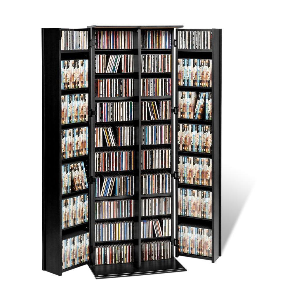 Prepac Black Media Storage BLS-0448-K