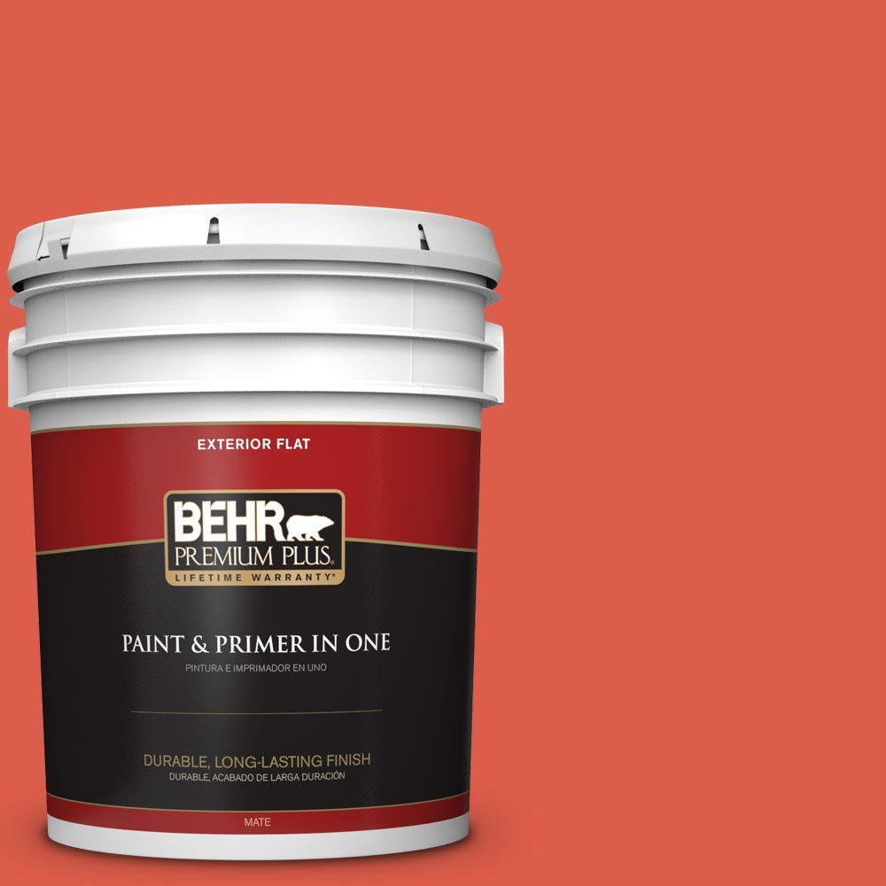 BEHR Premium Plus 5-gal. #P180-6 Pimento Flat Exterior Paint