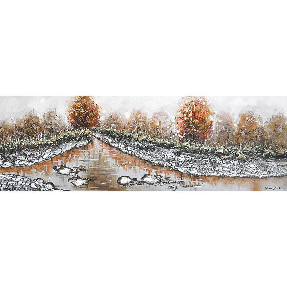 Yosemite Home Decor 59 in. x 20 in. Mystic Autumn I Hand Painted Contemporary Artwork-DISCONTINUED
