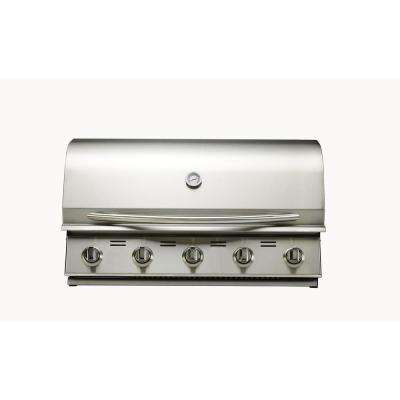 5-Burner Built-in Propane Gas Grill in Stainless Steel