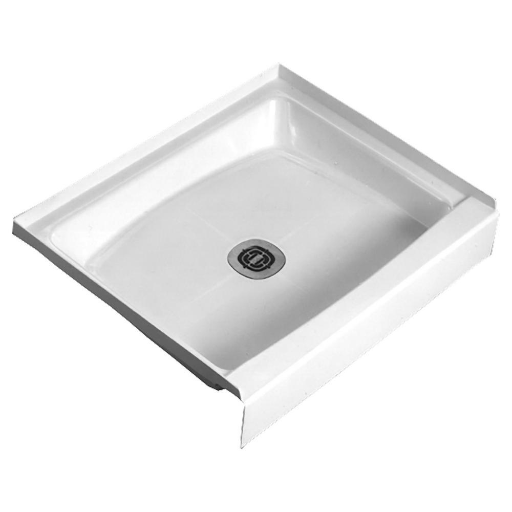 Cascade 48 in. x 32 in. Single Threshold Shower Floor in White