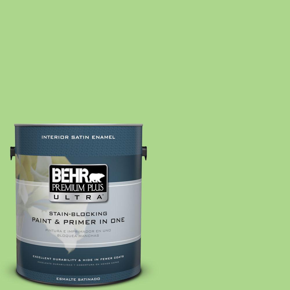 1 gal. #430B-4 Peas In A Pod Satin Enamel Interior Paint
