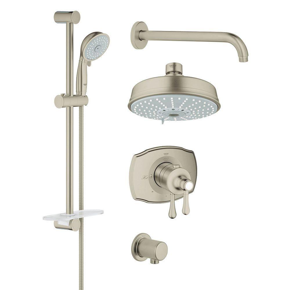 GrohFlex Shower Set 4-Spray Shower System in Brushed Nickel InfinityFinish