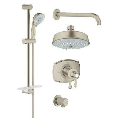 GrohFlex Shower Set 4-Spray Shower System in Brushed Nickel InfinityFinish