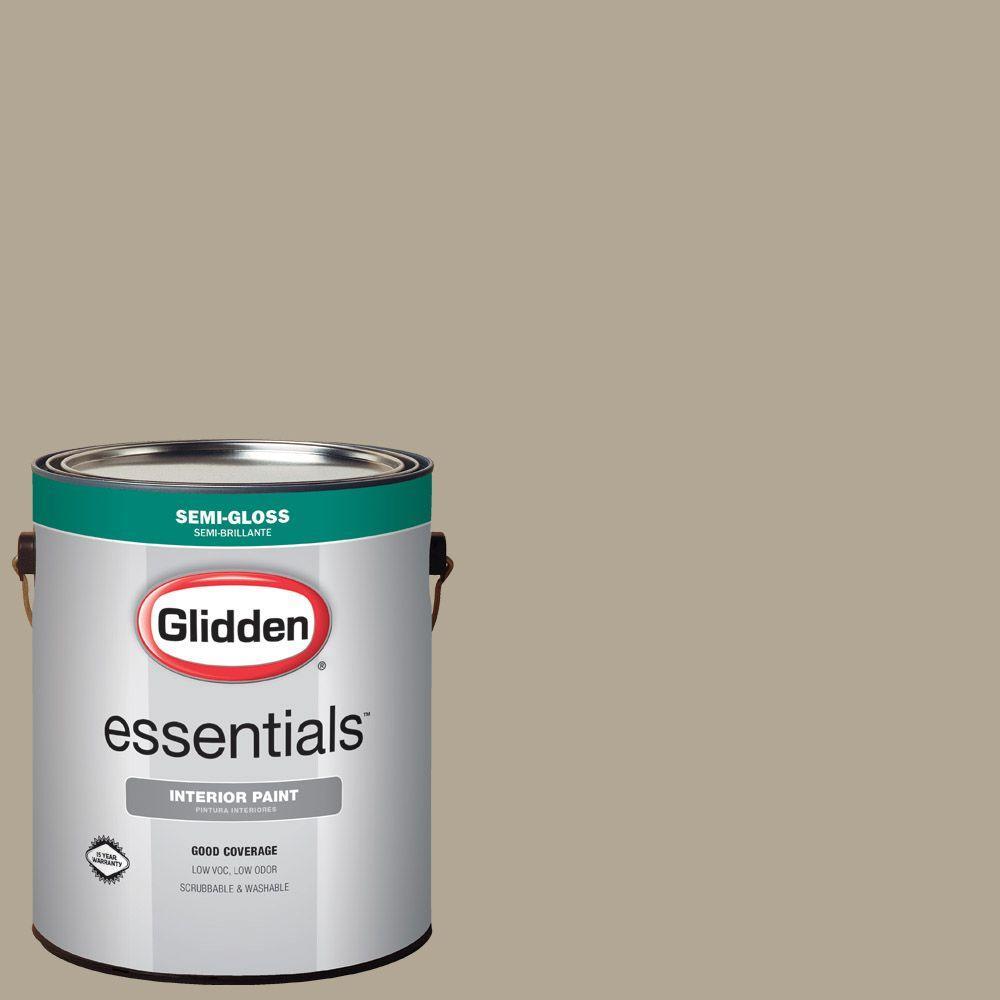 1 gal. #HDGWN59U Potter's Clay Beige Semi-Gloss Interior Paint