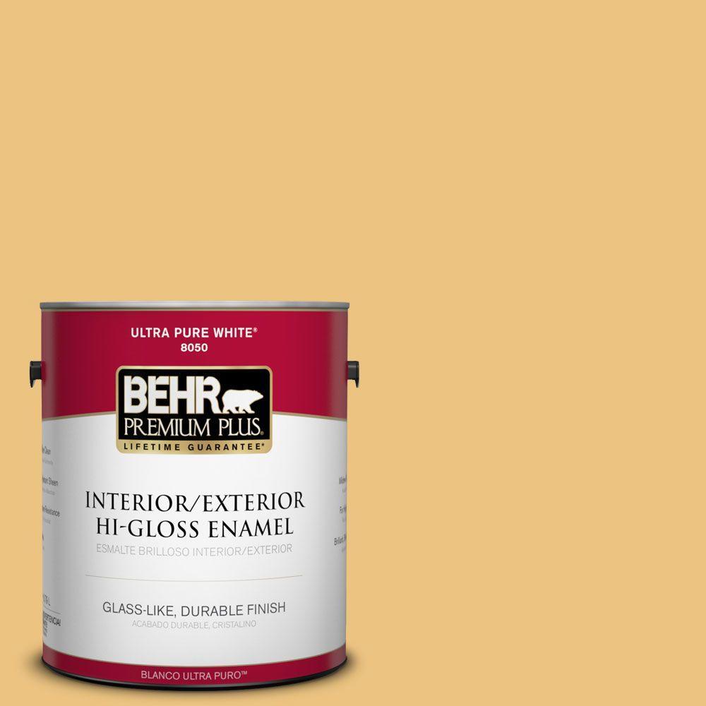 1-gal. #350D-4 Wild Bamboo Hi-Gloss Enamel Interior/Exterior Paint