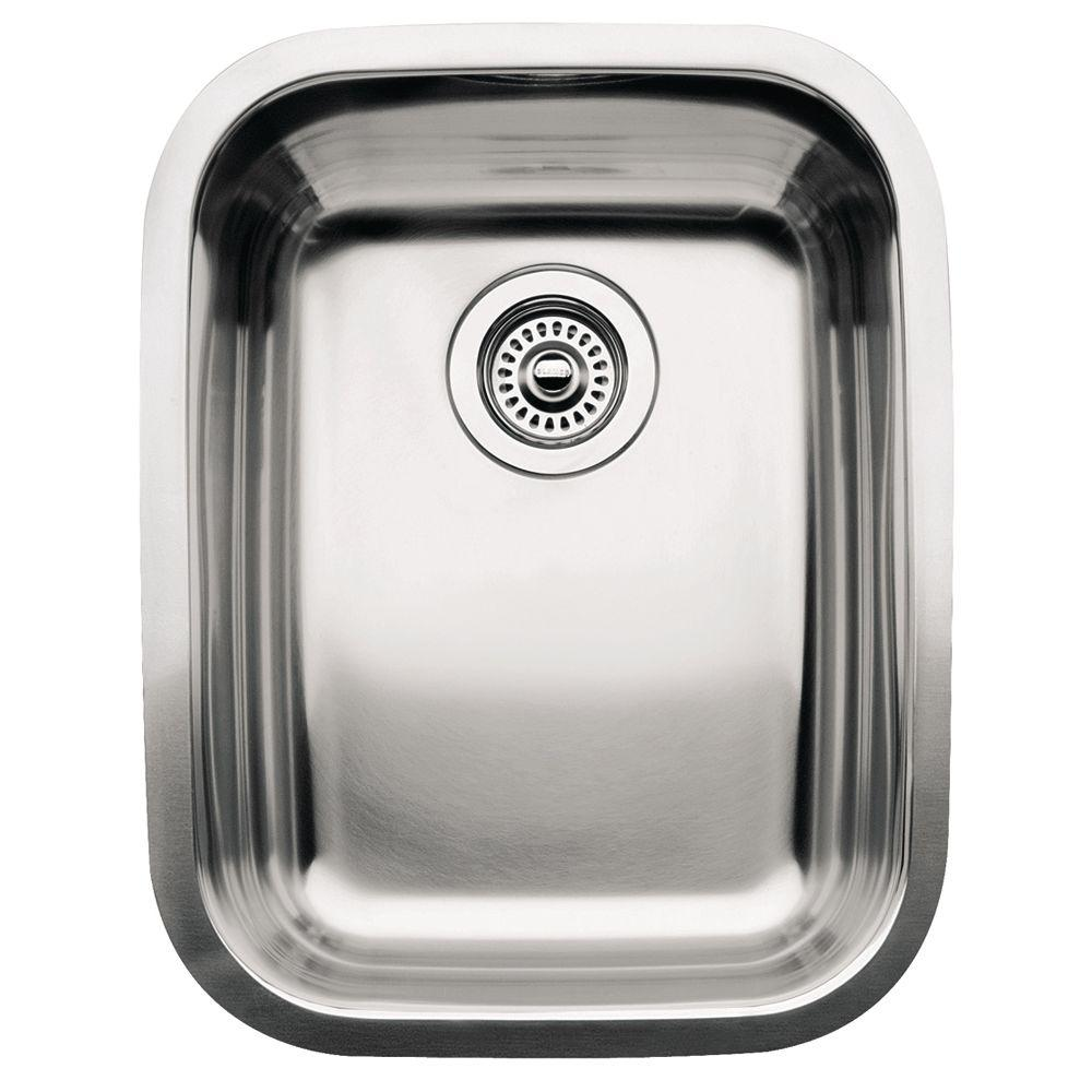 Blanco Supreme Undermount Stainless Steel 16in 3 4 Single