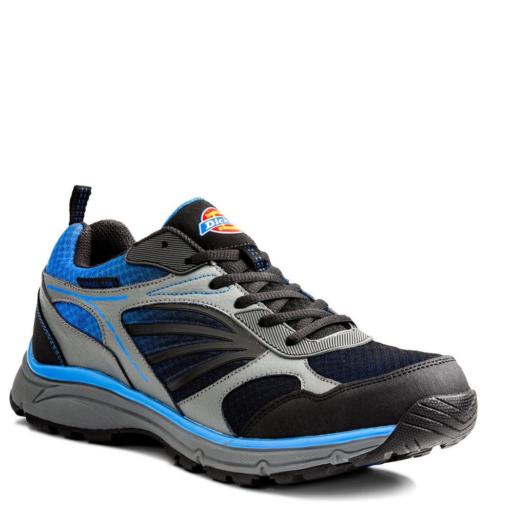 Stride Men Size 9 Blue Leather/Mesh Safety Work Shoe