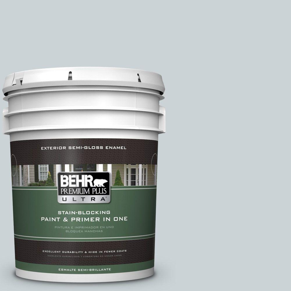 BEHR Premium Plus Ultra 5-gal. #N490-1 Absolute Zero Semi-Gloss Enamel Exterior Paint