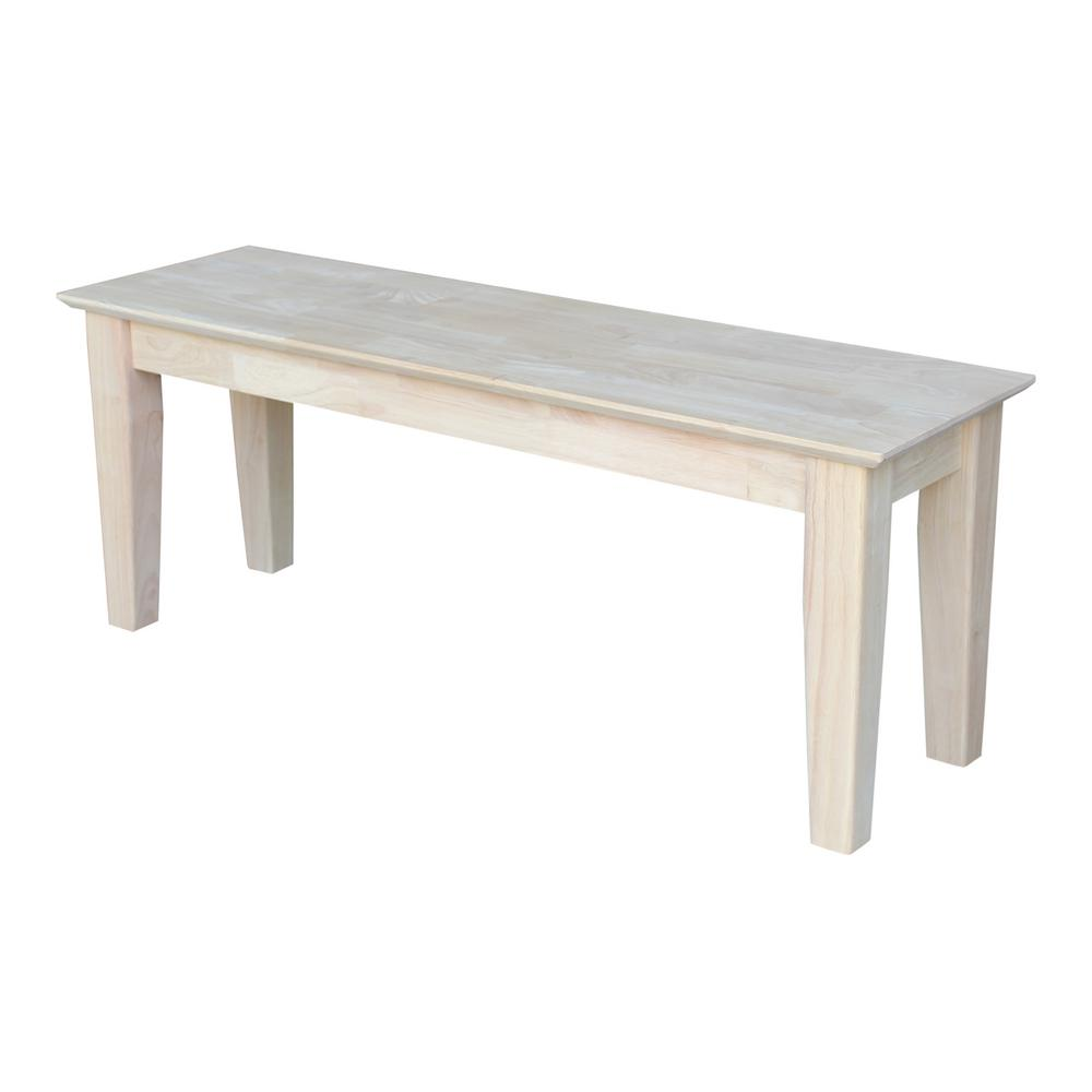 International Concepts Unfinished Bench-BE-47S