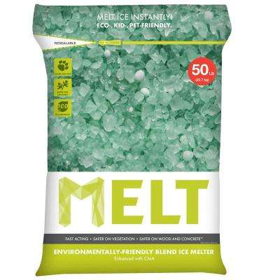 Melt 50 lb. Re-Sealable Bag Premium Environmentally Friendly Blend Ice Melter with CMA