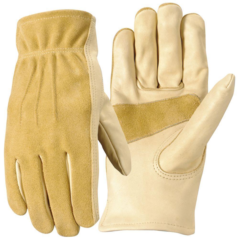 Wells Lamont Womens Grain Cowhide Glove, Medium-DISCONTINUED