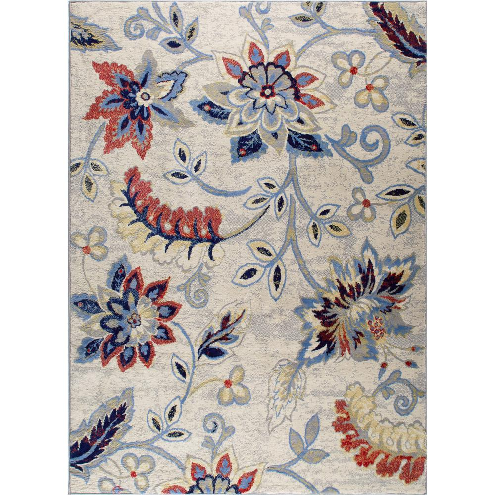 Home Dynamix Tremont Ivory Navy 7 Ft 10 In X 10 Ft 5 In