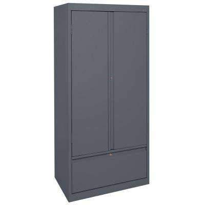 Systems Series 30 in. W x 64 in. H x 18 in. D Storage Cabinet with File Drawer in Charcoal