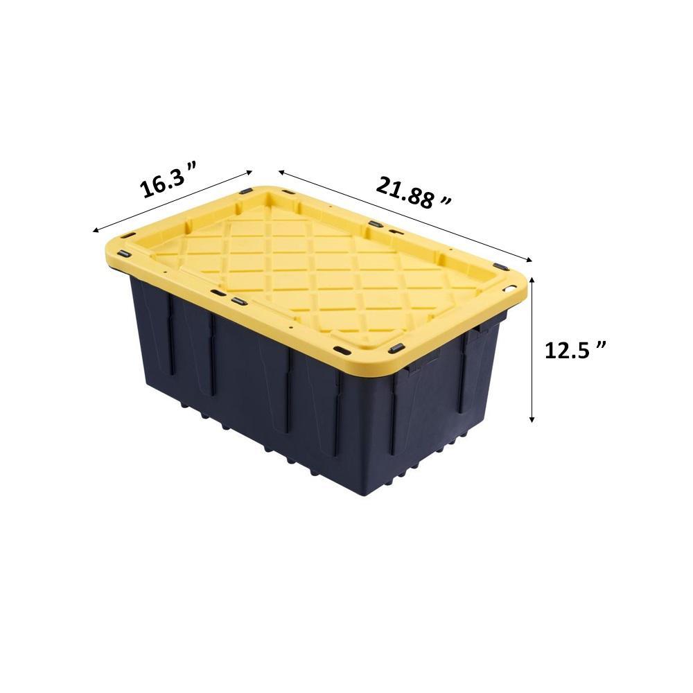 Hdx 12 Gal Tough Storage Bin In Black, Home Depot Storage Baskets