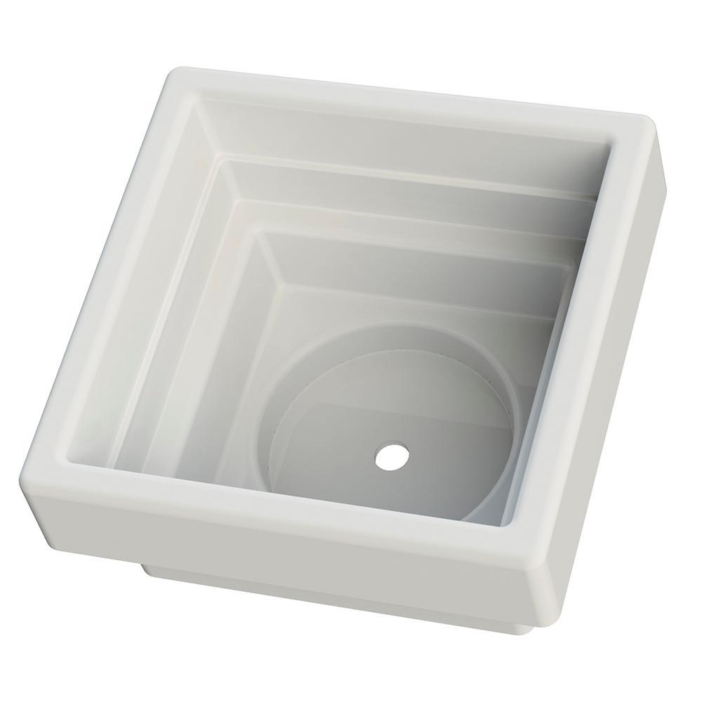 5.25 in x 5.25 in White Vinyl Post Top Planter