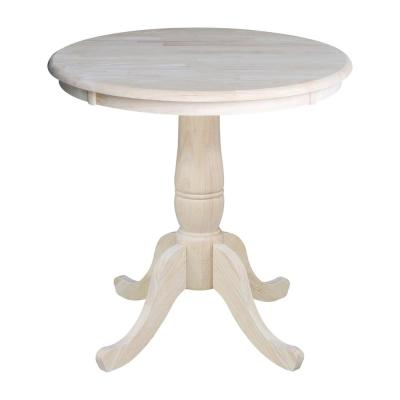 Round Unfinished Wood Kitchen Dining Tables