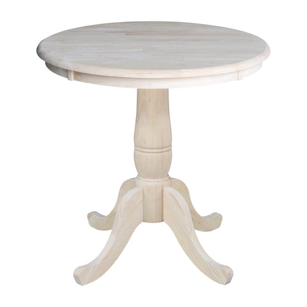 International Concepts Unfinished Pedestal Dining Table