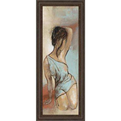 """18 in. x 42 in. """"Seated Woman Panel II"""" by Lannie Loreth Framed Printed Wall Art"""