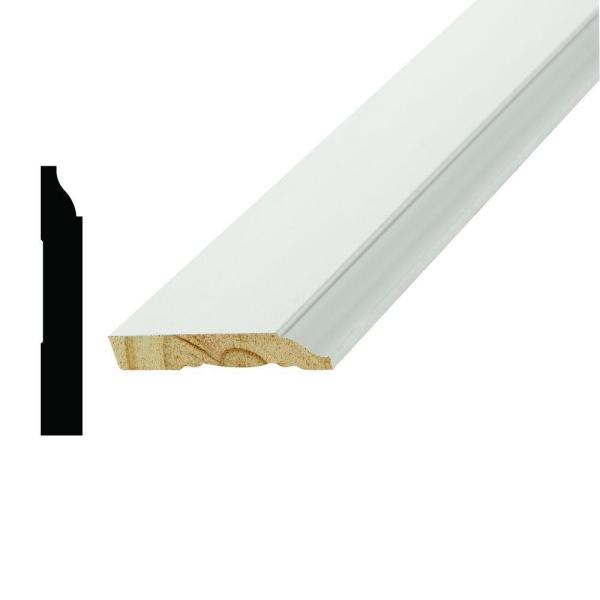 1/2 in. x 3-1/4 in. x 96 in. Primed White Poplar Wood Finger-Jointed Base Moulding