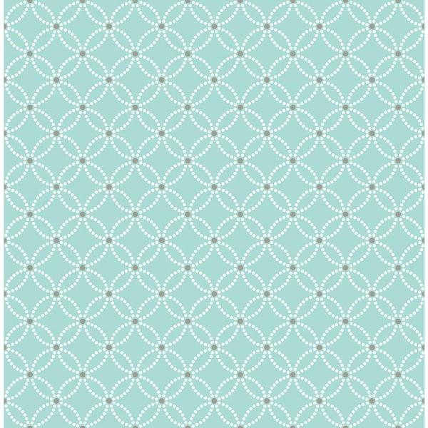 A-Street Kinetic Turquoise Geometric Floral Wallpaper Sample 2625-21839SAM