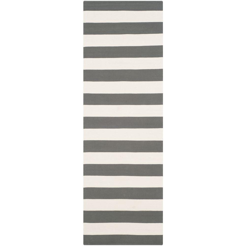 Safavieh Montauk Grey/Ivory 2 ft. 3 in. x 7 ft. Runner