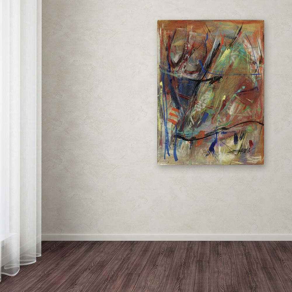 "19 in. x 14 in. ""Bright Swoon"" by Shana Doumingez Printed"