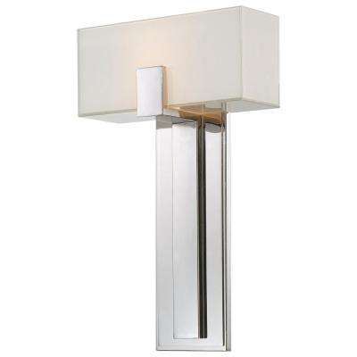 1-Light Polished Nickel Wall Sconce