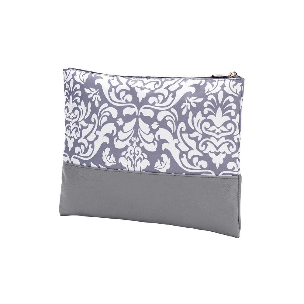 Ella Grey Zip Pouch Cosmetic Bag